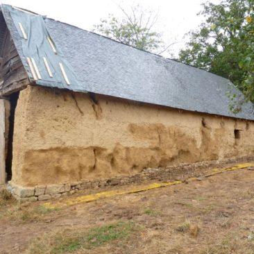 restauration grange en terre