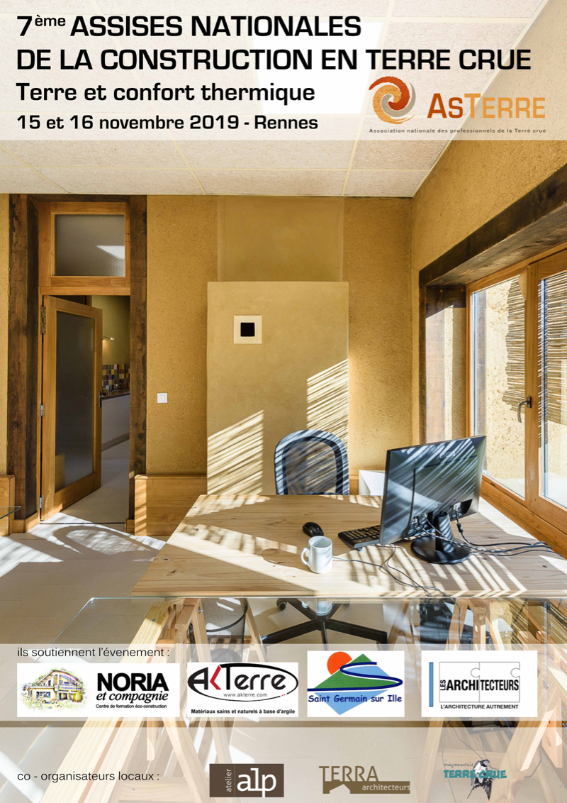 2019 ASTERRE 7èmes assises nationales de la construction en terre crue Rennes