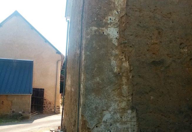 reprise d'angle maison en terre St Gilles EIRL Terre Crue Maetz Ghislain